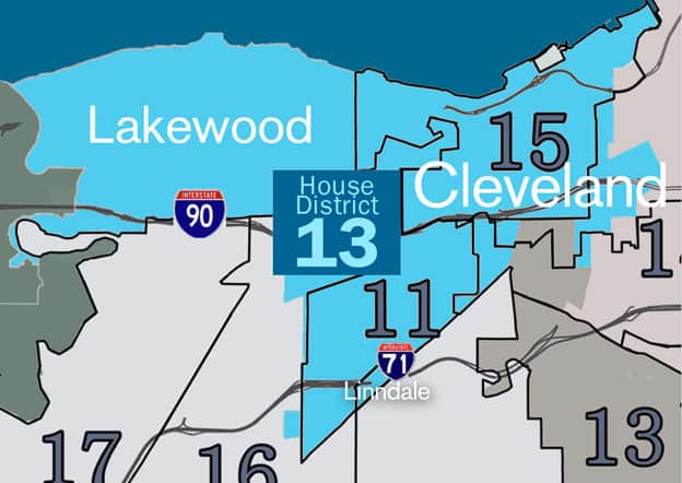 map of House District 13